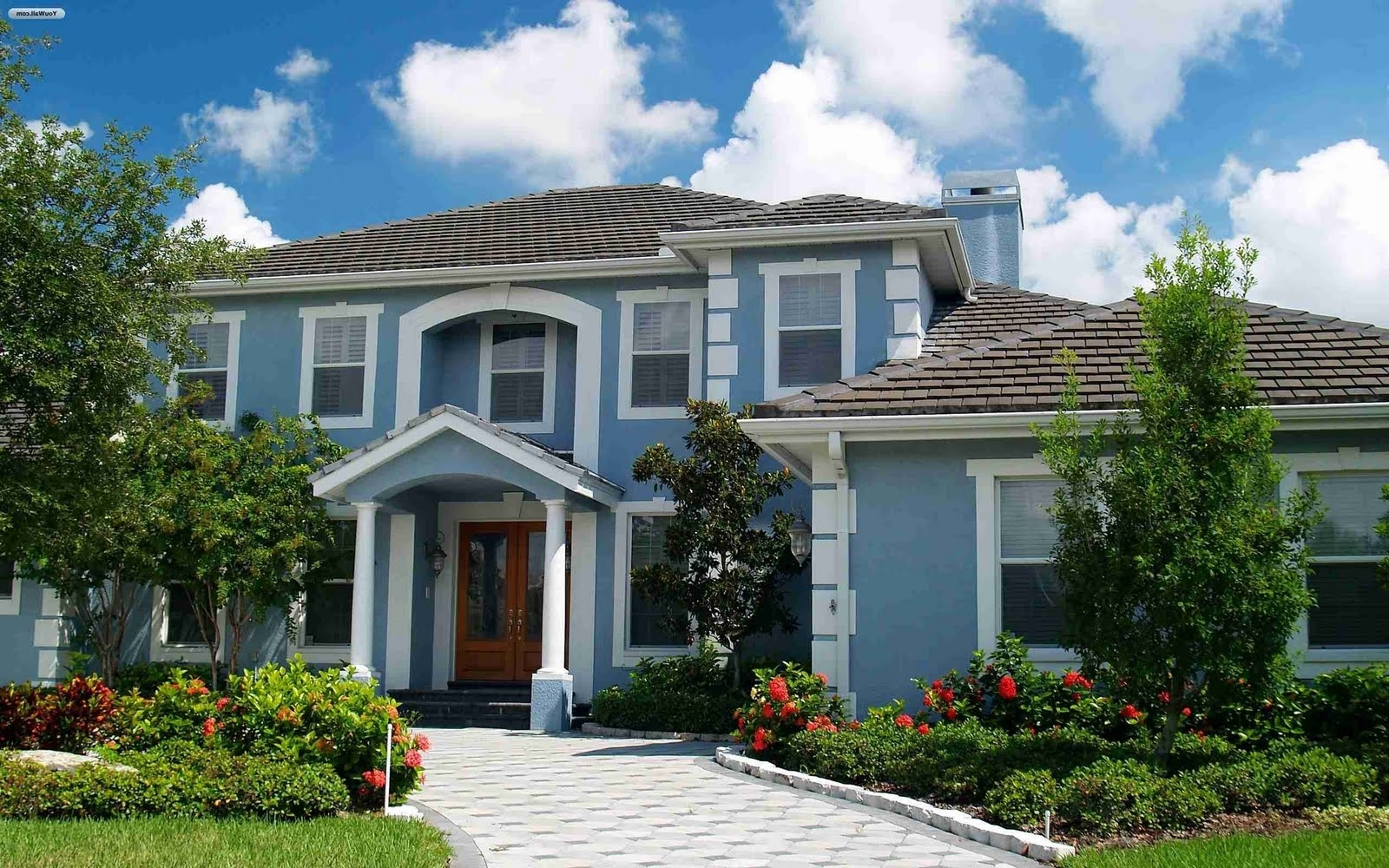 Gorgeous house exterior paint colors ideas 554 exterior ideas for Blue grey exterior house paint