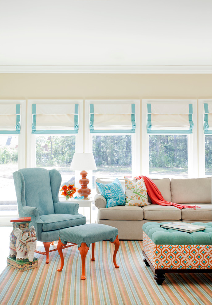 Living Room Linen Curtain In Cozy Style (Image 1 of 4)
