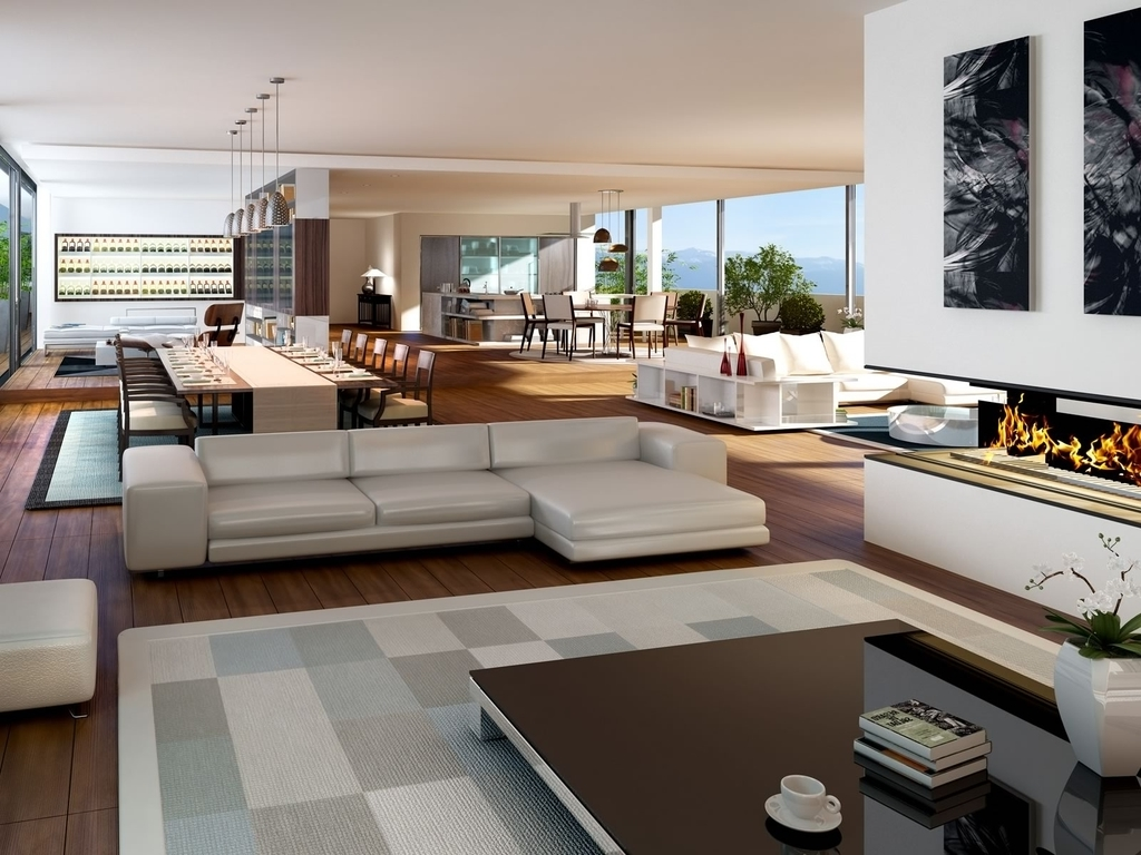 Luxury Open Apartment Interior Decor (Image 16 of 21)