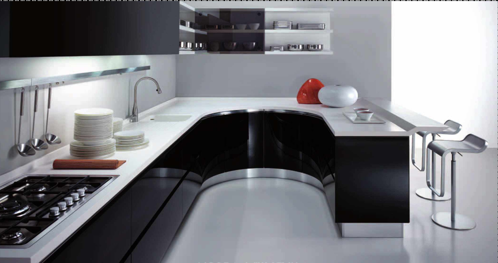 Metal Contemporary Kitchen Cupboard (Image 11 of 20)