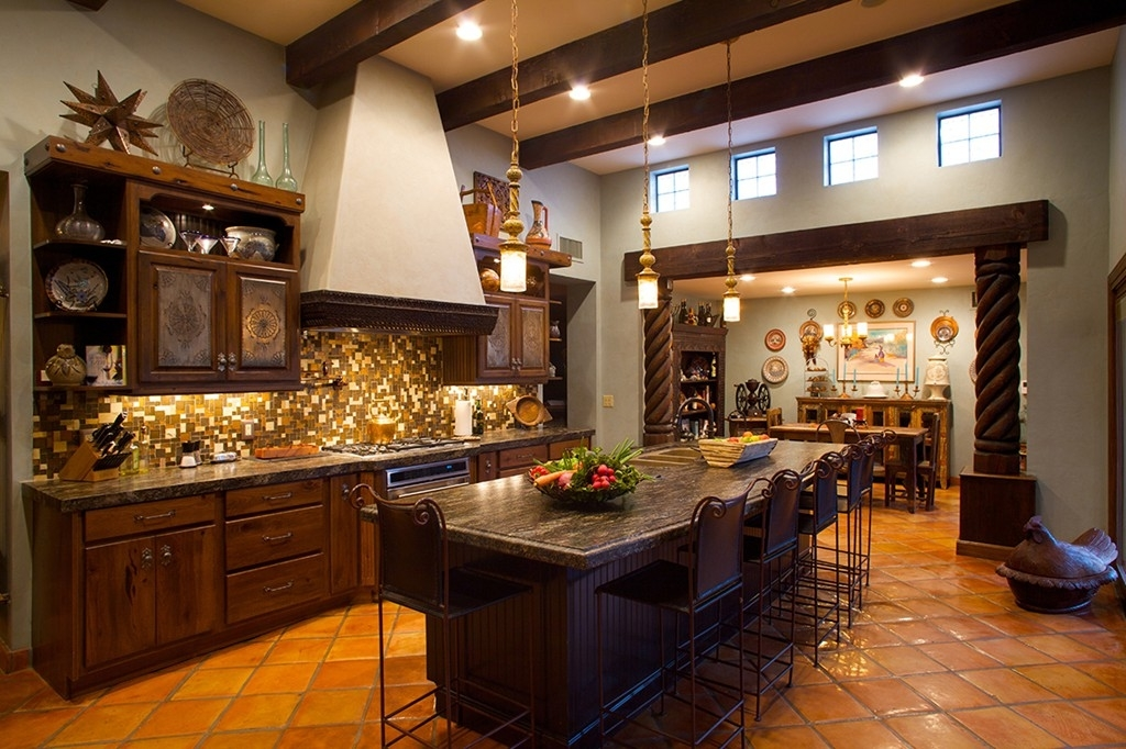 Mexican kitchen furniture and cabinet ideas 740 house for Mexican kitchen designs photos