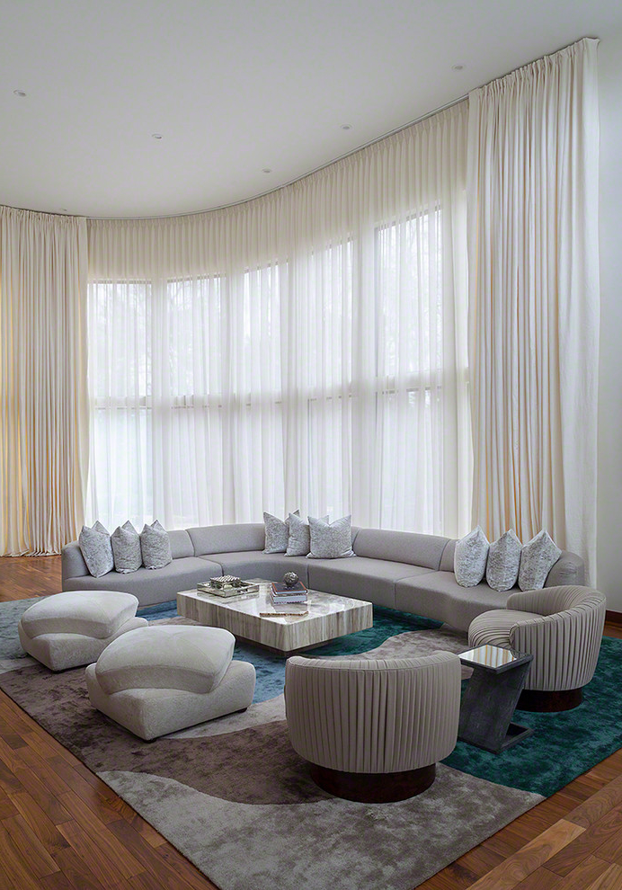 Contemporary Living Room Curtains 921 Living Room Ideas