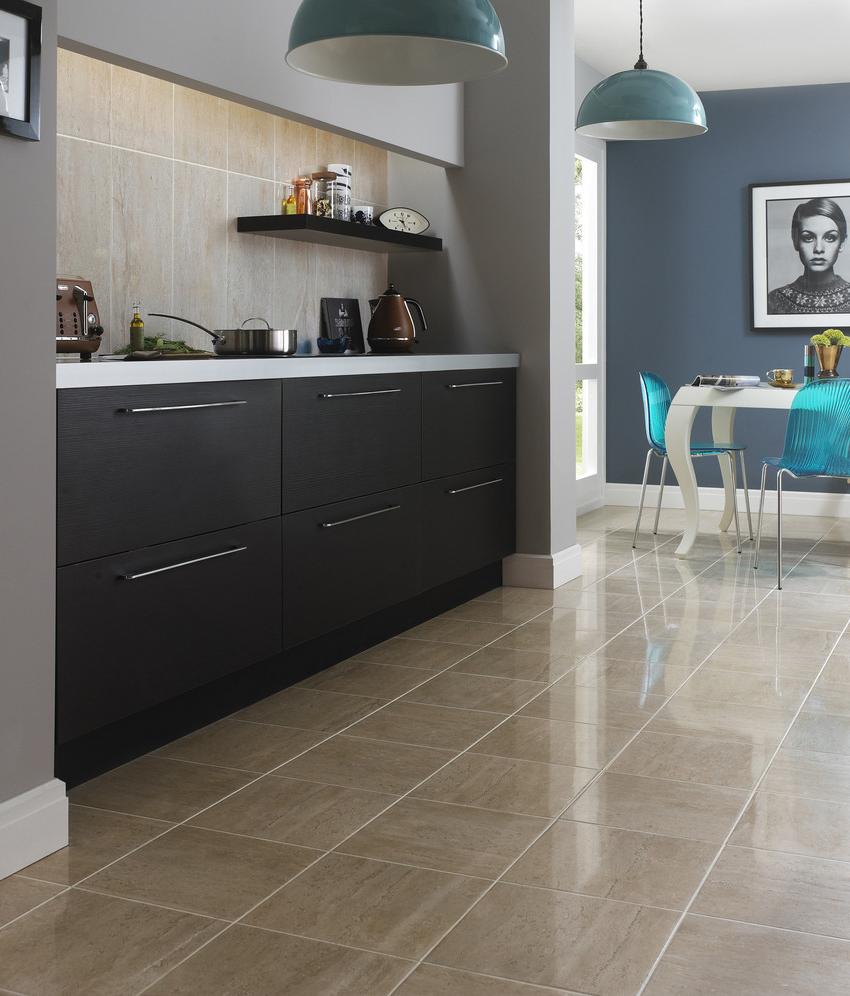 Porcelain Tile Flooring For Kitchen Room #505