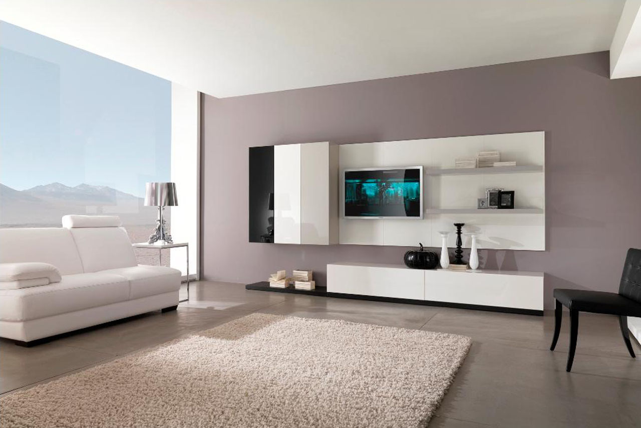 Modern American Grey Living Room Interior Design