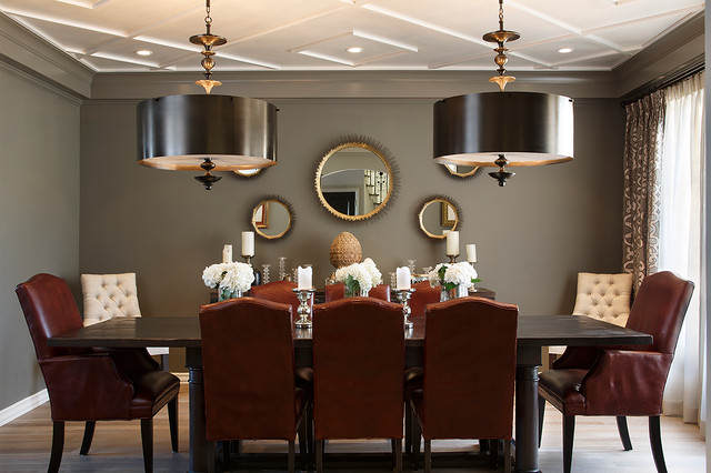 Modern Classic European Contemporary Dining Room Interior Image 7 Of 9
