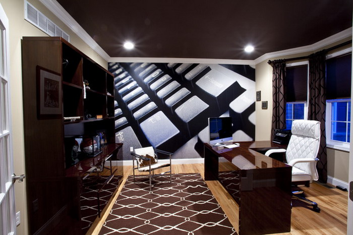 Modern Home Office Wall Murals (Image 8 of 8)