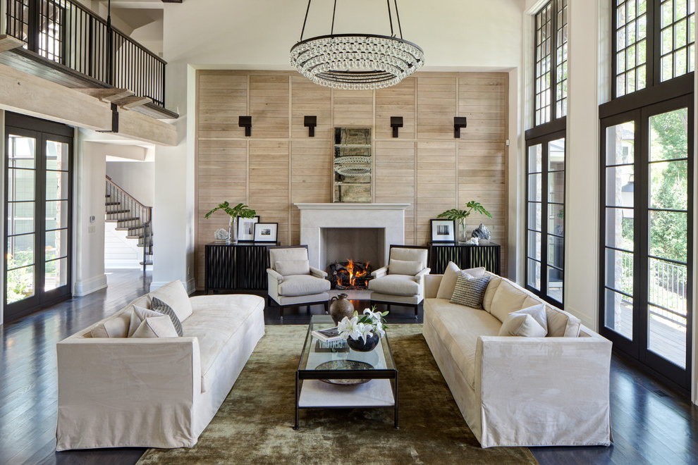 Modern Living Room Chandelier Elegant Design (Image 7 of 8)