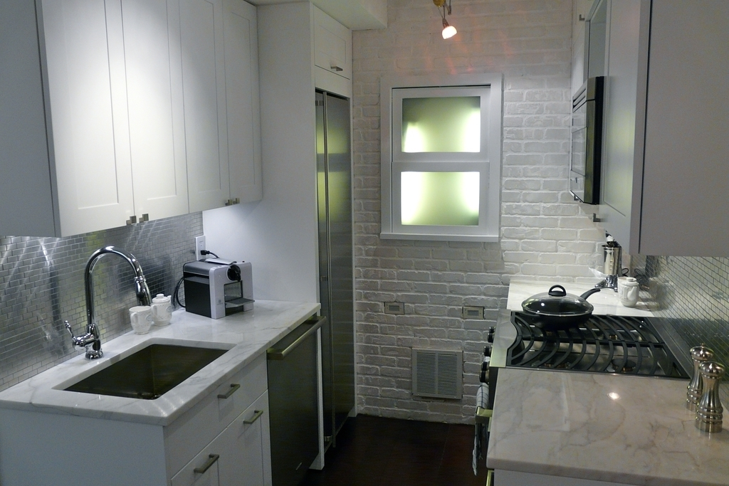 New York City Kitchen Remodel With Brick Wall (Image 11 of 16)