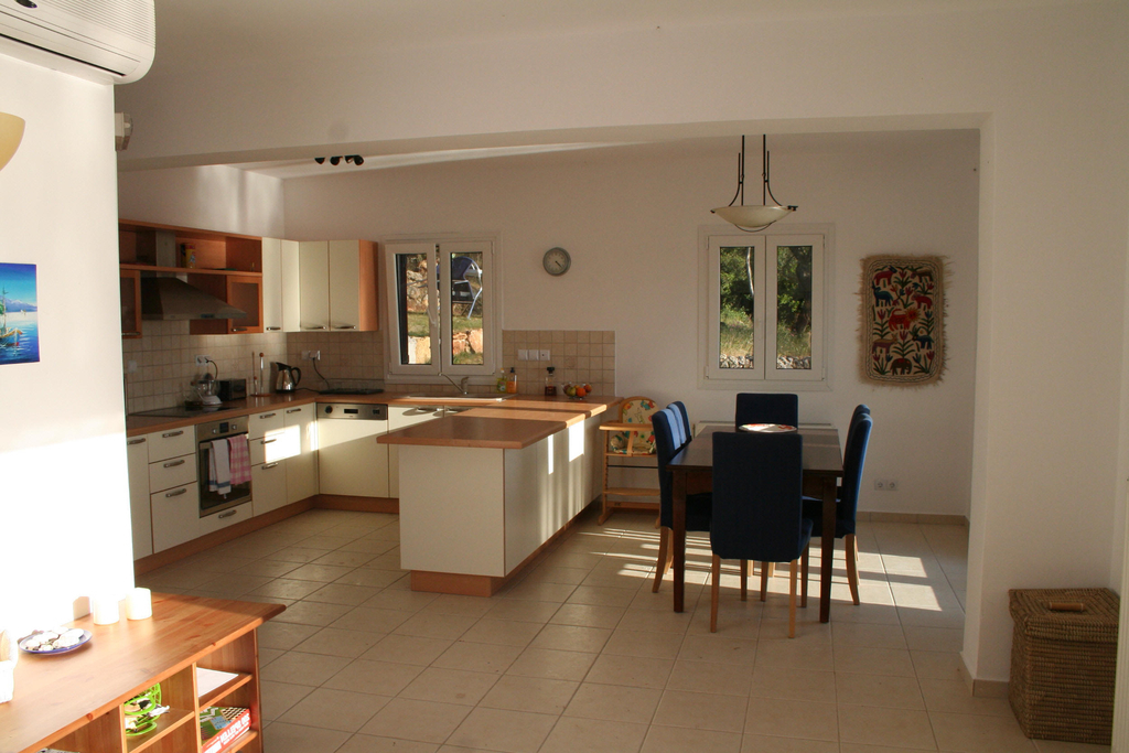 Open Kitchen With Dining Room Furniture Arrangement (View 3 of 13)