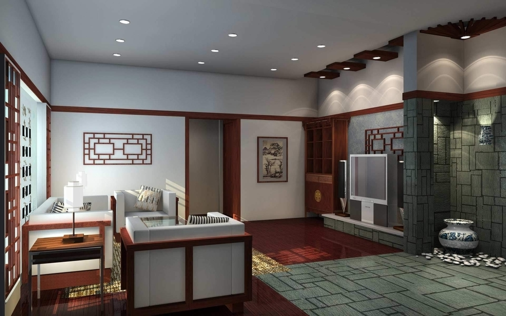 Oriental Japanese Living Room Concept (View 3 of 13)