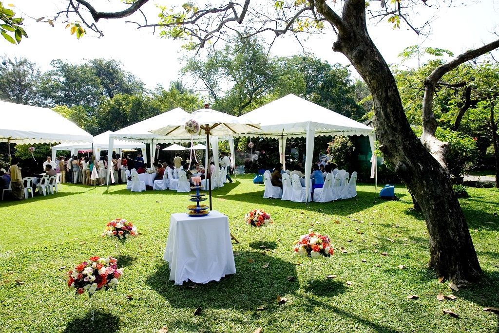 Outdoor Wedding Tent Decoration (Image 5 of 8)