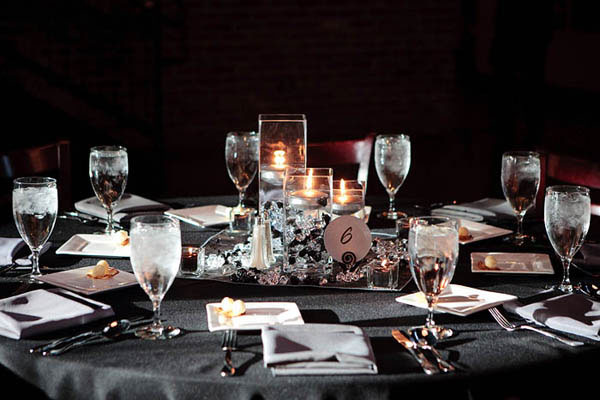 Round Wedding Centerpiece Crystal Spoon (Image 6 of 15)