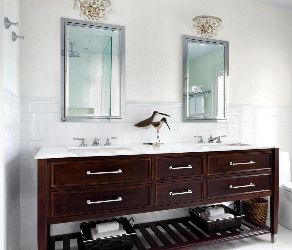 Rustic Bathroom Vanity Cabinet Design (Image 7 of 8)