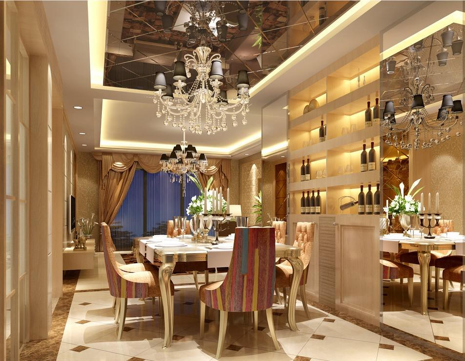 Sharp European Contemporary Dining Room Interior Style (Image 8 of 9)