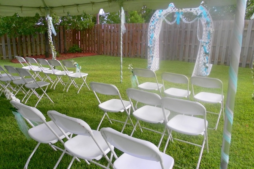 Simple Wedding Set Up In The Backyard Garden (Image 8 of 8)