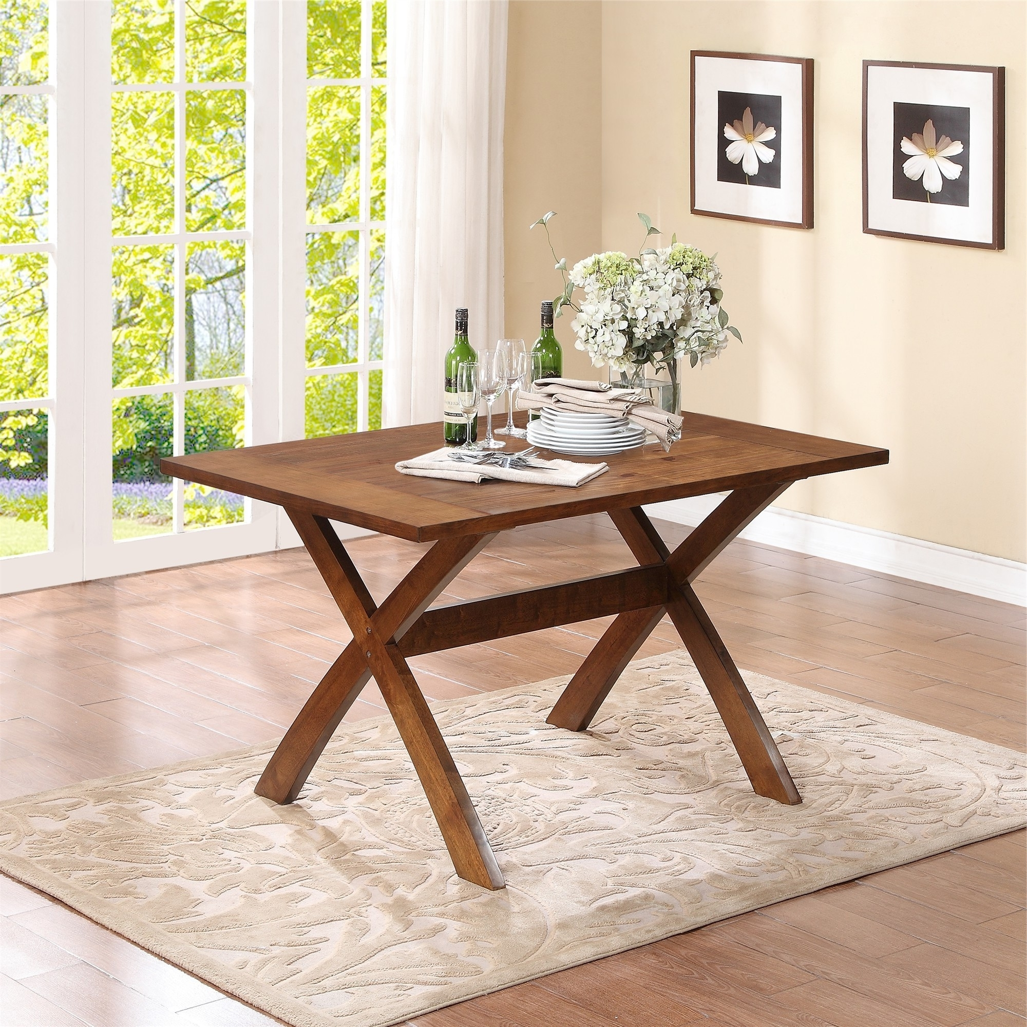 Sturdy Folding Wooden Table (Image 17 of 20)