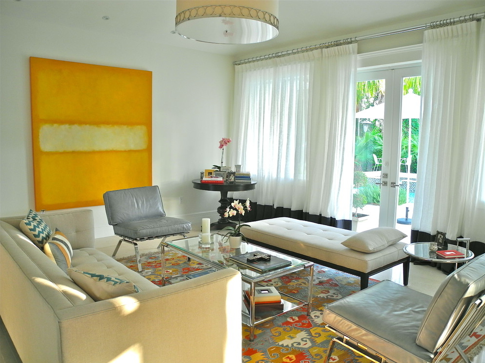 Featured Image of Contemporary Living Room Curtains