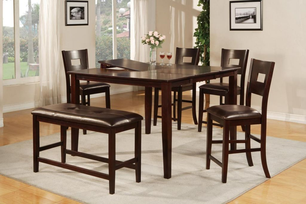 Glass Top Wooden Dining Room Table #1120 | Dining Room Ideas