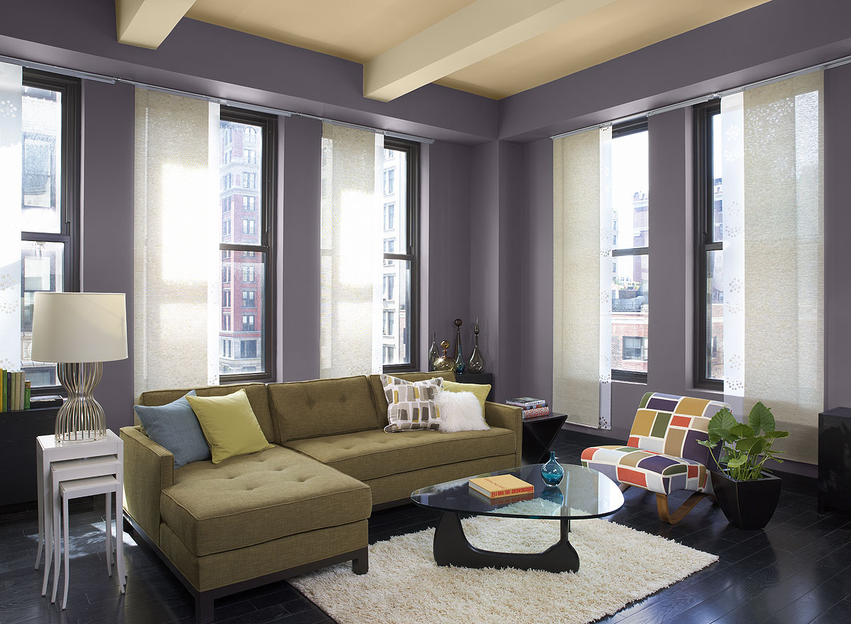 Warm Violet Apartment Interior Paint (Image 10 of 12)