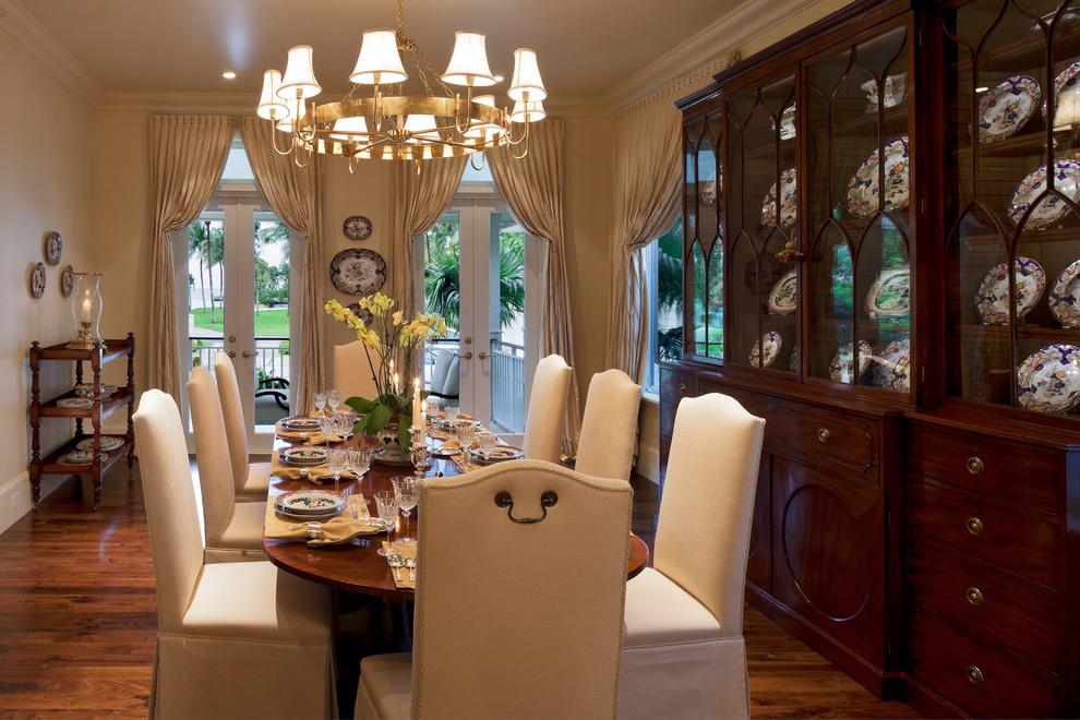 White Chair Cover For Formal Dining Room (View 6 of 30)