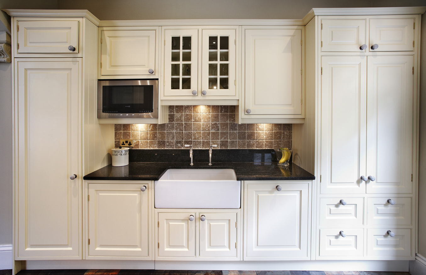 White Victorian Kitchen Wooden Cabinet (Image 8 Of 8)