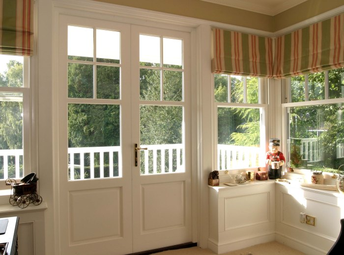 Wood French Doors (Image 8 of 8)