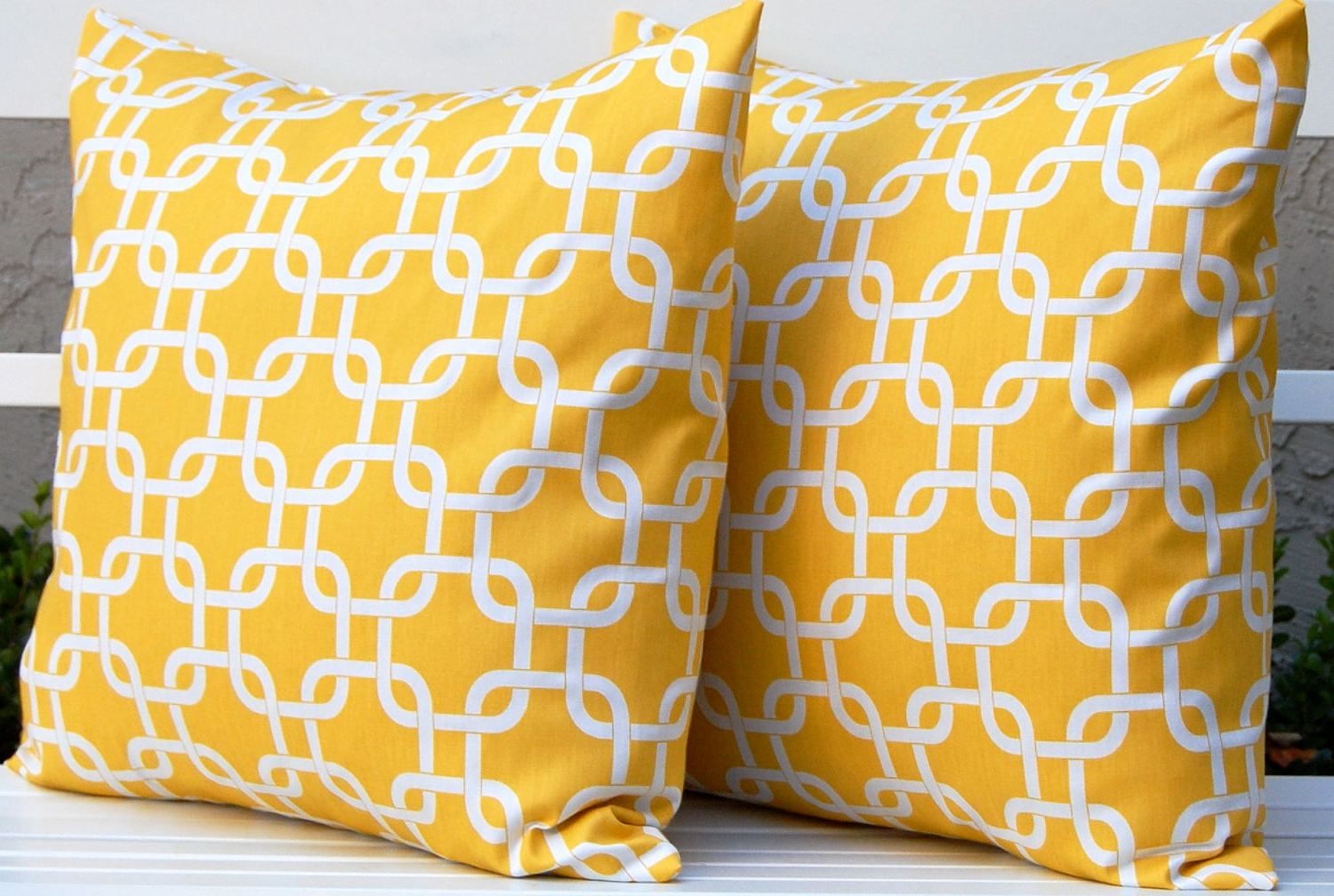 Yellow Decorative Sofa Pillows Cover (Image 20 of 20)