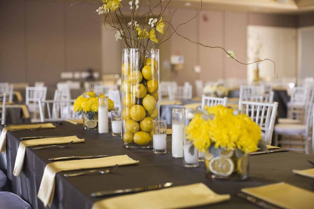 Yellow Wedding Centerpieces Decor Themes (Image 13 of 13)