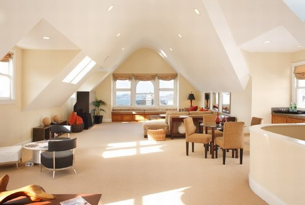Amazing Large Living Room Converted From Attic (Image 1 of 10)