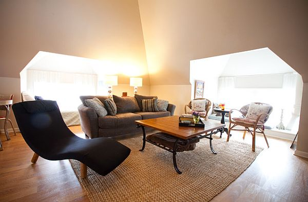 Attic Conversion Ideas To Pretty Living Room (Image 3 of 10)