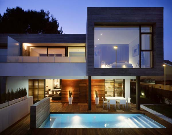 awesome modern contemporary house design image 1 of 10 - Contemporary Modern Home