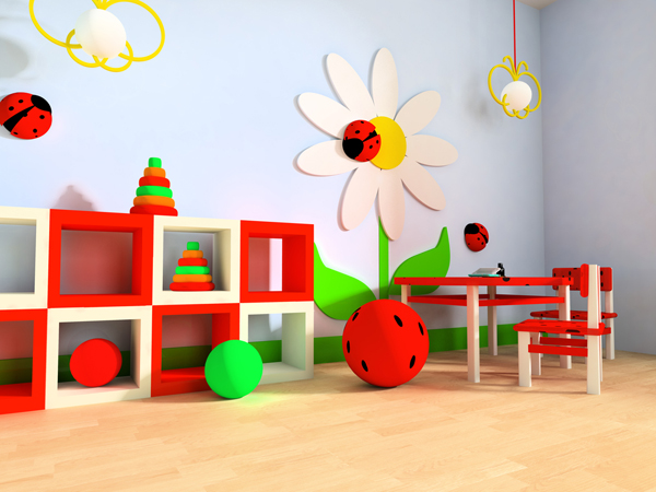 Awesome Playroom Ideas With Flower Themes (View 8 of 10)