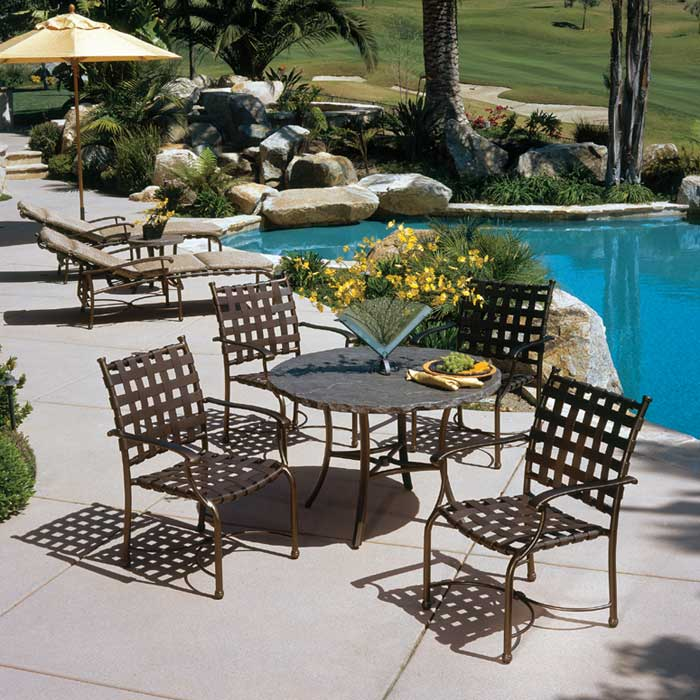 Beauti Brown Alumunium Patio Furniture (Image 6 of 14)