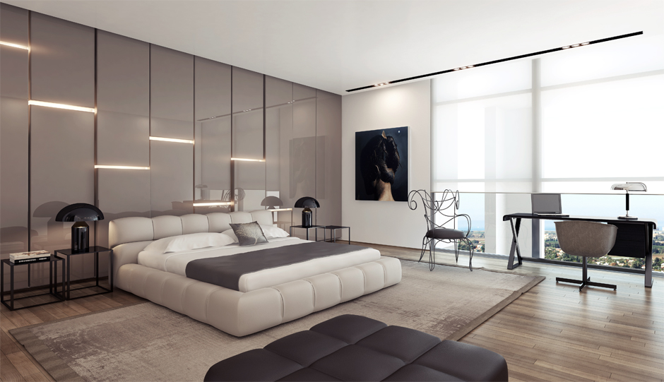 Beauty Modern Apartment Bedroom (Image 1 of 10)