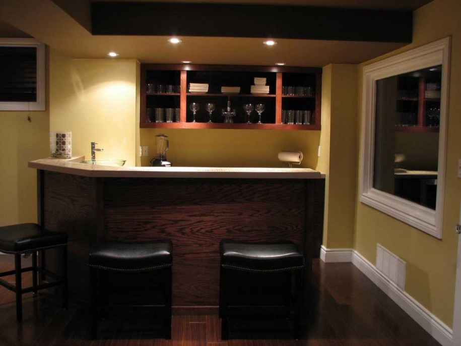 Beautiful Small Bar At Home Basement