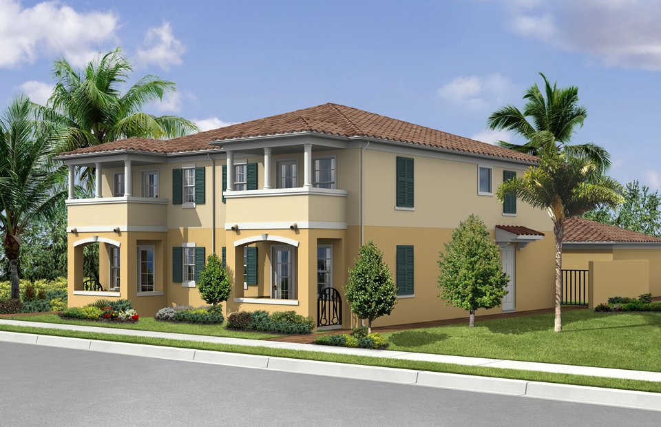 Exterior: Contemporary Florida Style Home Design Plan (#2 of 10 ...