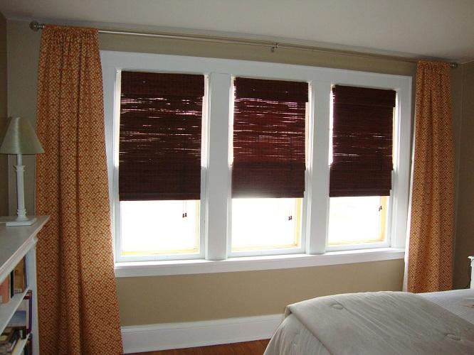 Beautiful Geometric Curtains For3 Windows (Image 2 of 10)