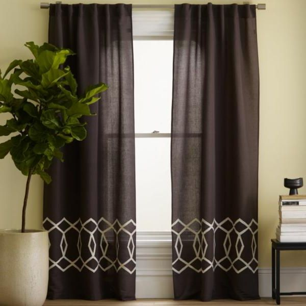 Beautiful Geometric Curtains (View 2 of 10)