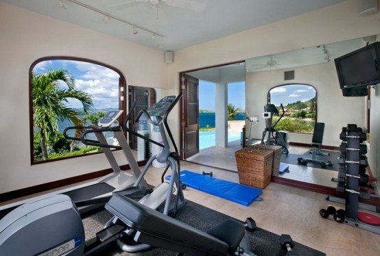 Beautiful Gym Room Decoration (View 6 of 10)