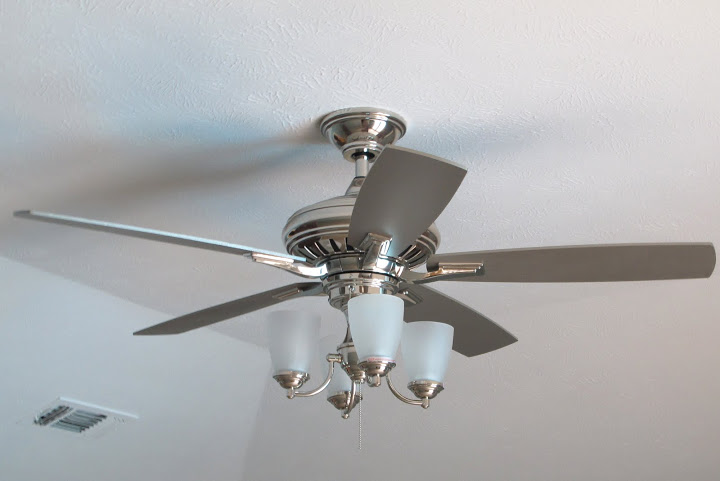 Beautiful Modern Ceiling Fans Installation (Image 2 of 10)