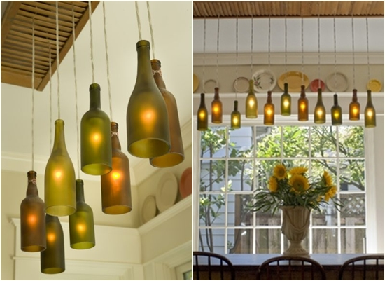 Beautiful Unused Bottle For Light Up Dining Room (Image 4 of 10)