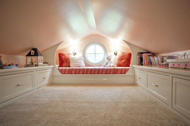 Beautifull Kids Play Room On The Attic (Image 2 of 10)