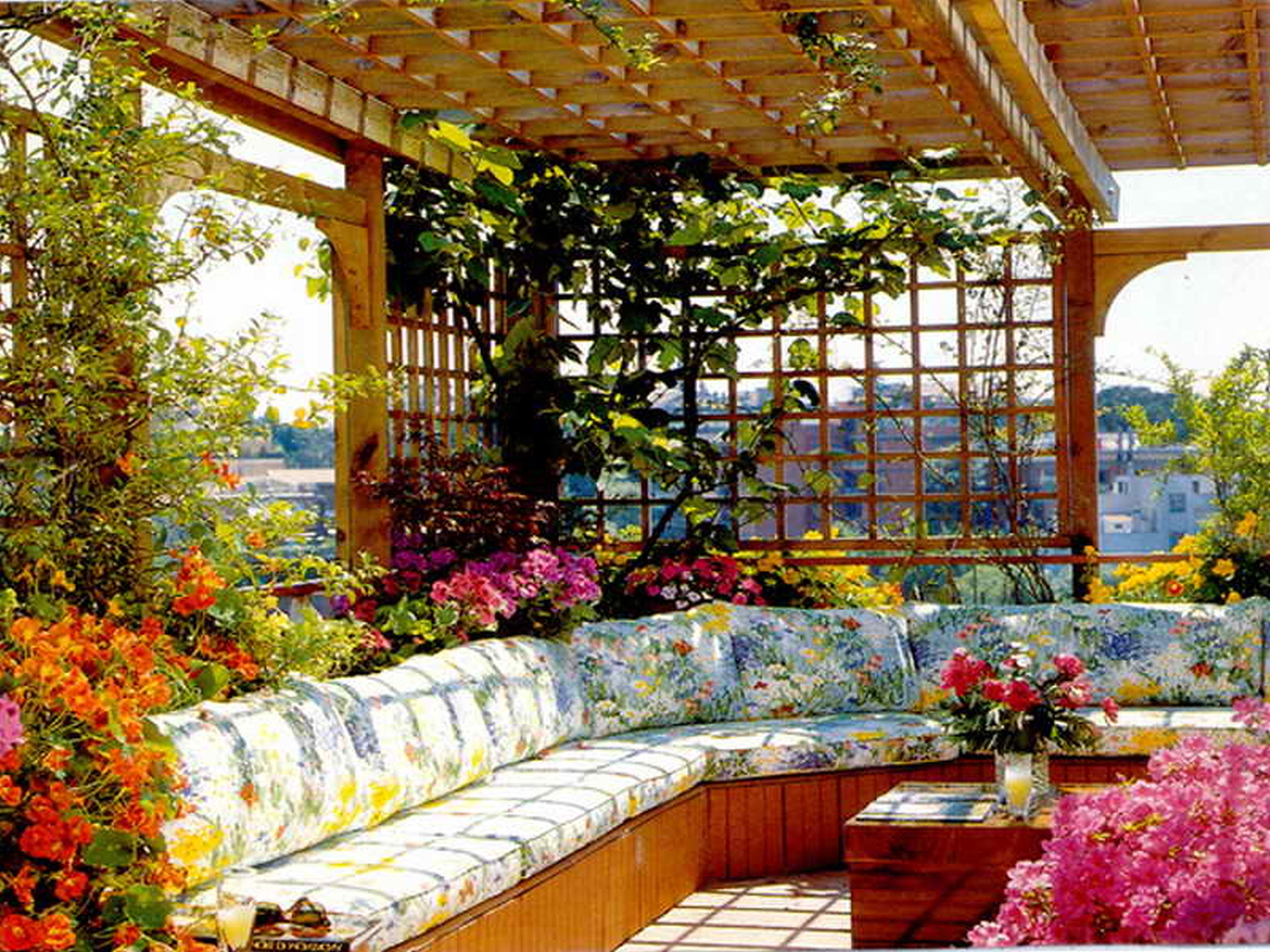 Best Rustic Rooftop Garden Furniture Ideas (Image 8 of 8)