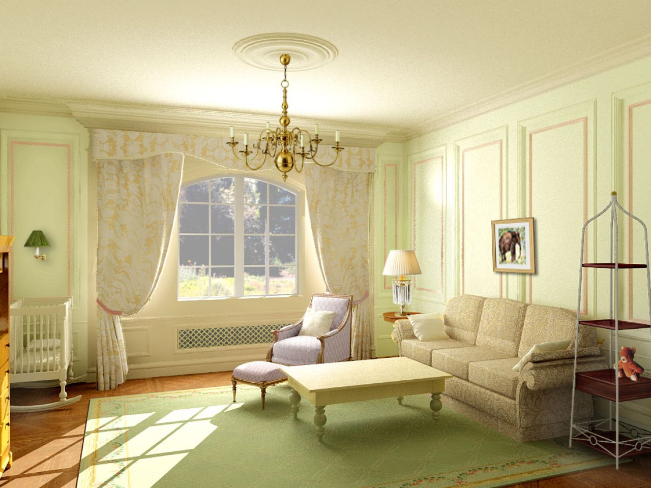 Beuatuful LowCountry Living Room Design (Image 2 of 8)