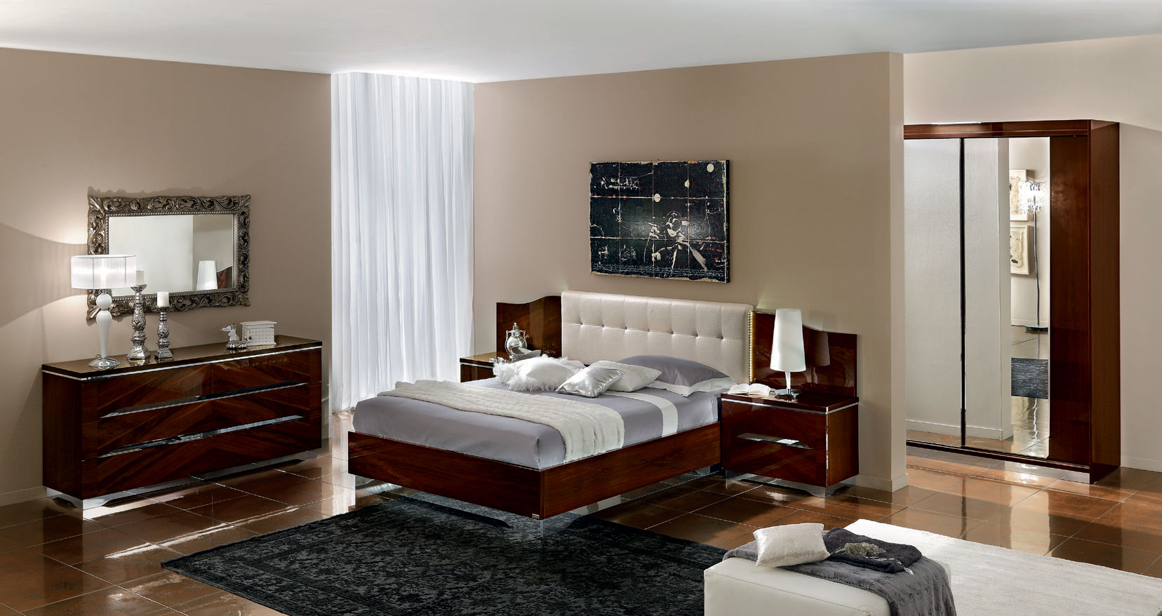 Brown Modern Bedroom Furniture Sets Designs (Photo 9 of 10)