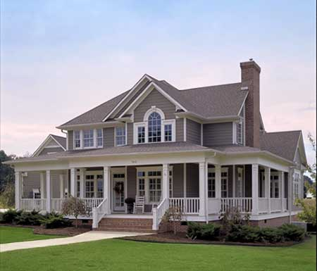 classic farmhouse with around porch photo 10 of 10 - Classic Farmhouse Plans