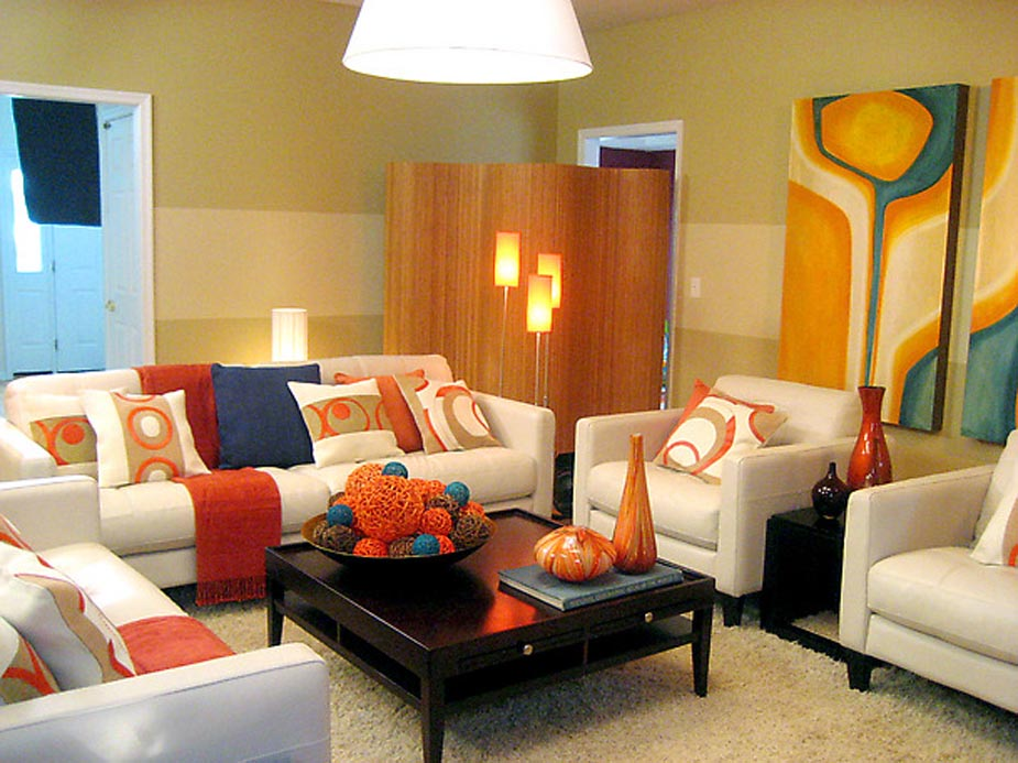 bright accent ideas modern living room design gallery (photo 10 of 10)