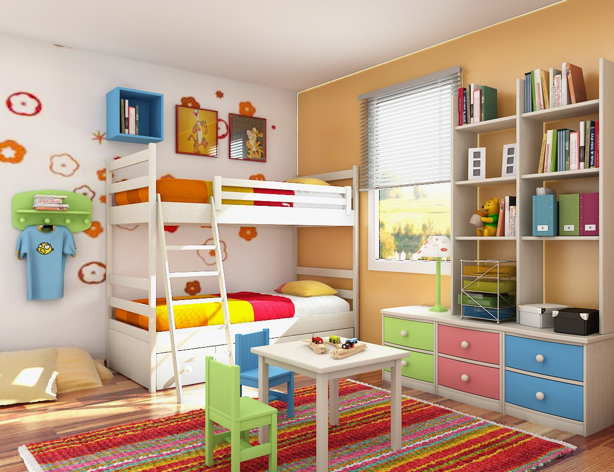 Colorful Furniture For Kids Bedroom (Image 2 Of 10)