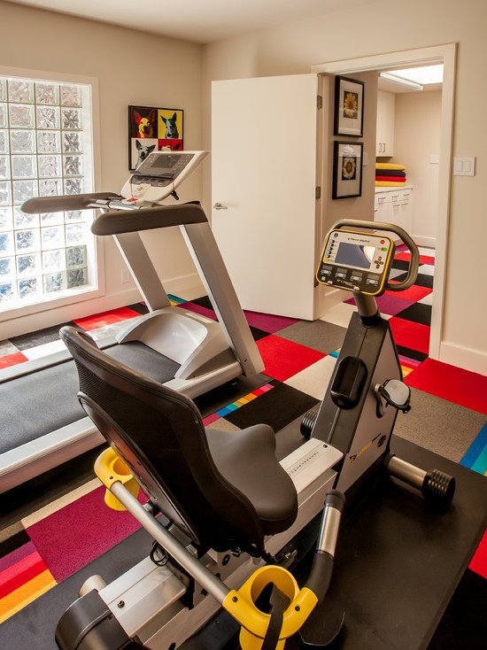 Colorful Gym Room Decoration (View 3 of 10)