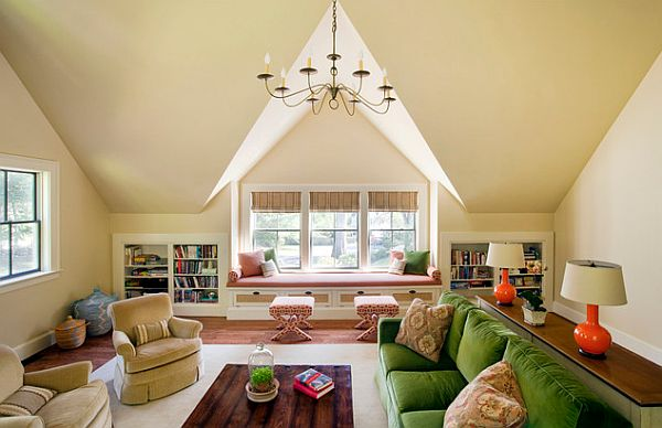 Colorful Living Room Conversion Attic Conversion Ideas For A Flawless Makeover (Image 5 of 10)
